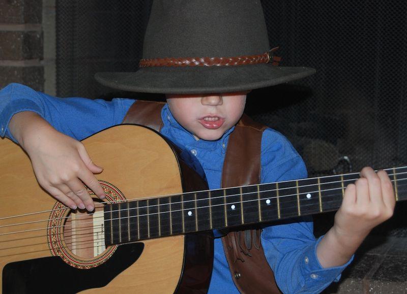 Ian making music
