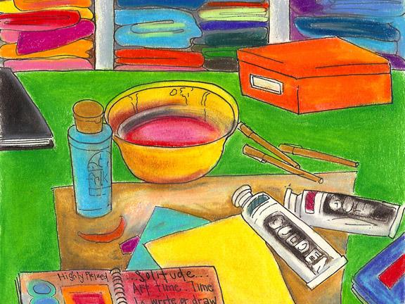 SKETCH pastels art time