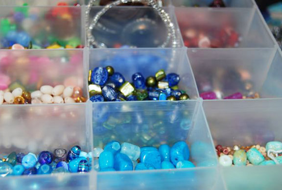 Colorful bead box